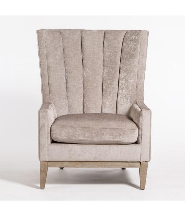 Logan Occasional Chair, Mica Powder, Driftwood