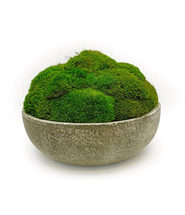Stoneware Moss Bowl