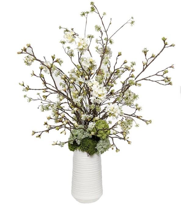 Spring White Blossom Vase