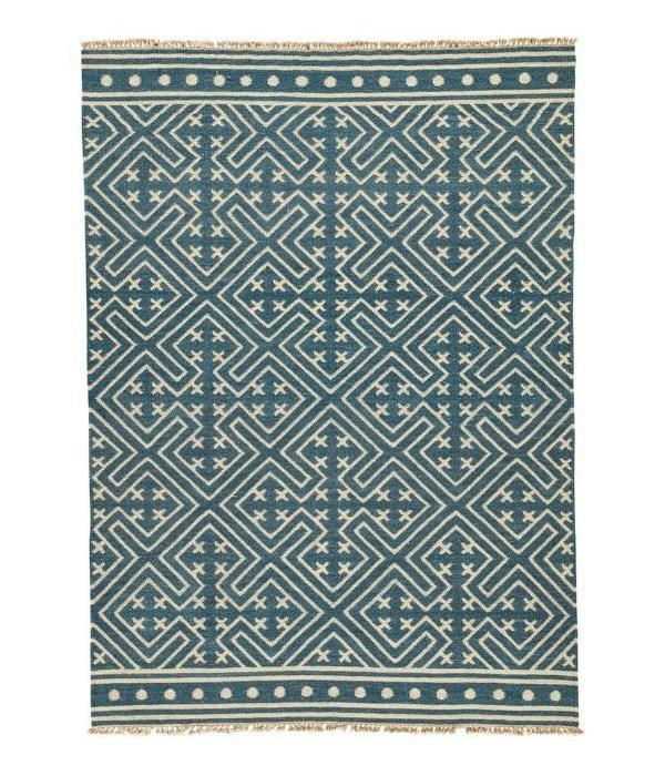 """Batik Lahu Indian Teal, Silver Green 18"""""""