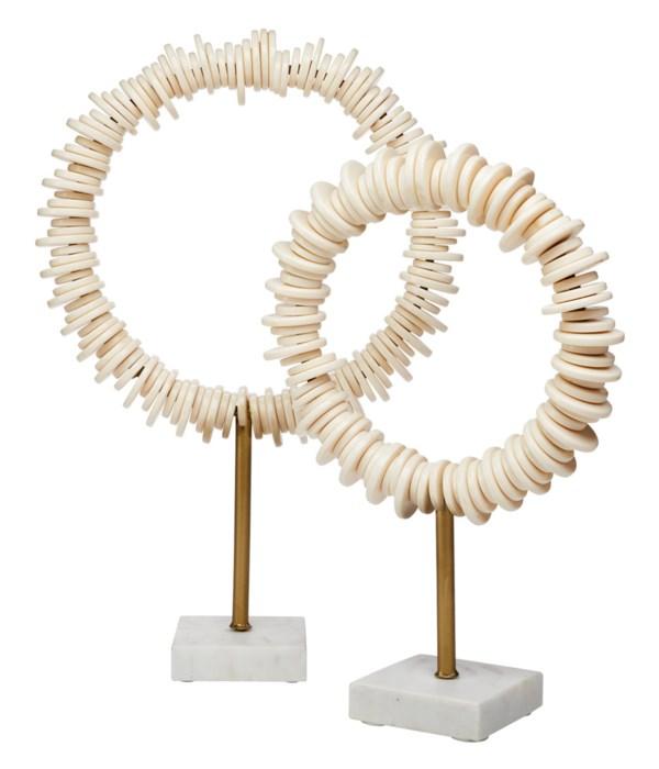 Arena Ring Sculptures, Set of 2
