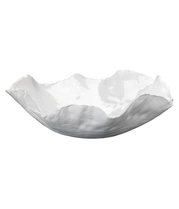 Large Peony White Bowl