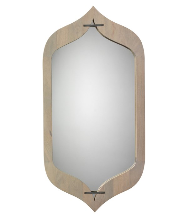 Jasmine Grey Washed Mirror