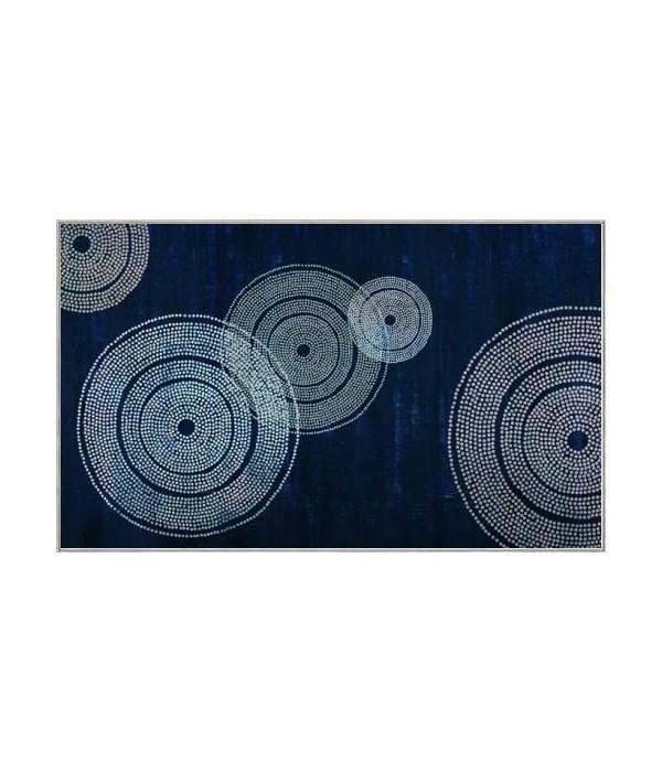 60x36 Brilliant in Blue, Frame 36POP83986, Dual Hanger