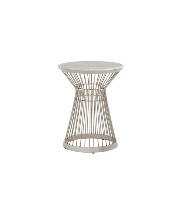 Martini Stainless Accent Table