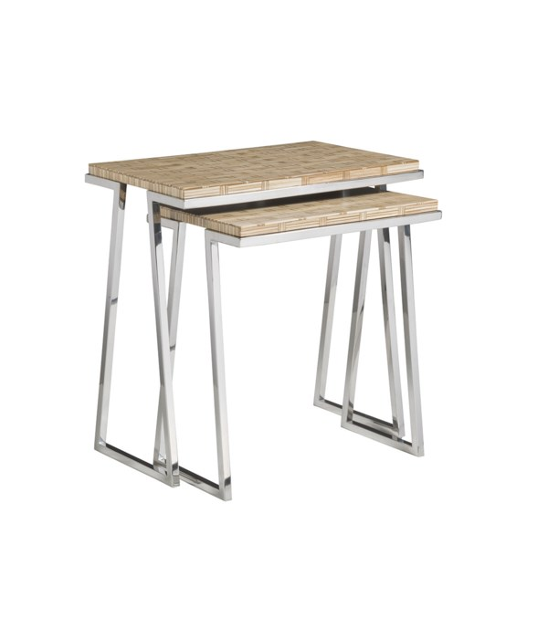 Thatch Nesting Tables, Set of 2