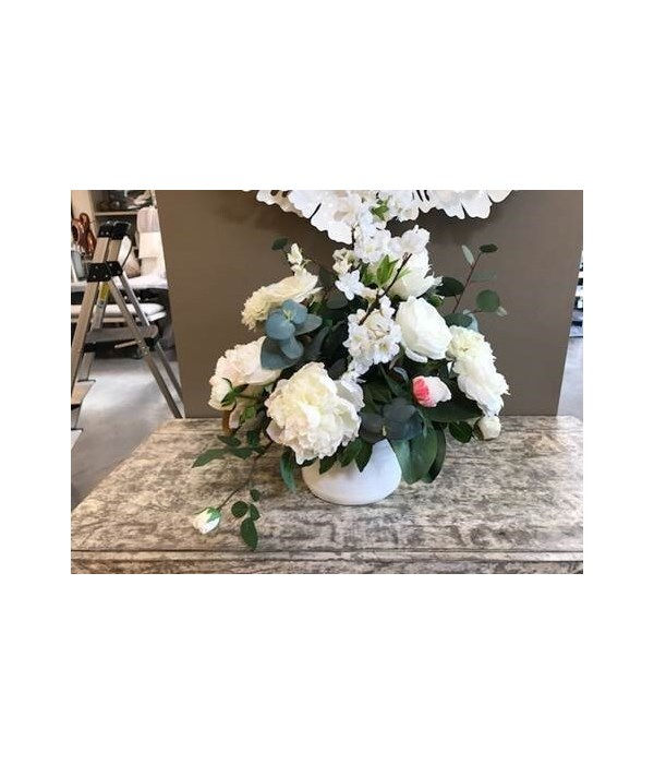 White Mixed Floral with Camellias & Rose