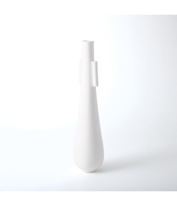 Tear Drop Vase with Handles, Matte White, Large