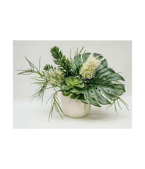 Tropical White Bona Pot