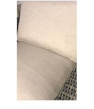 Rustic Wicker Lounge Cushion, Cast Dove, Welt W102