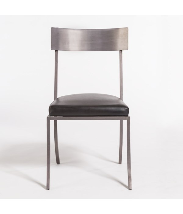 Marin Dining Chair, Aged Obsidian and Burnished Riviera