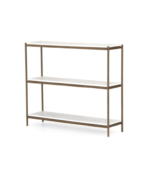 Felix Small Console Table, Antique Brass