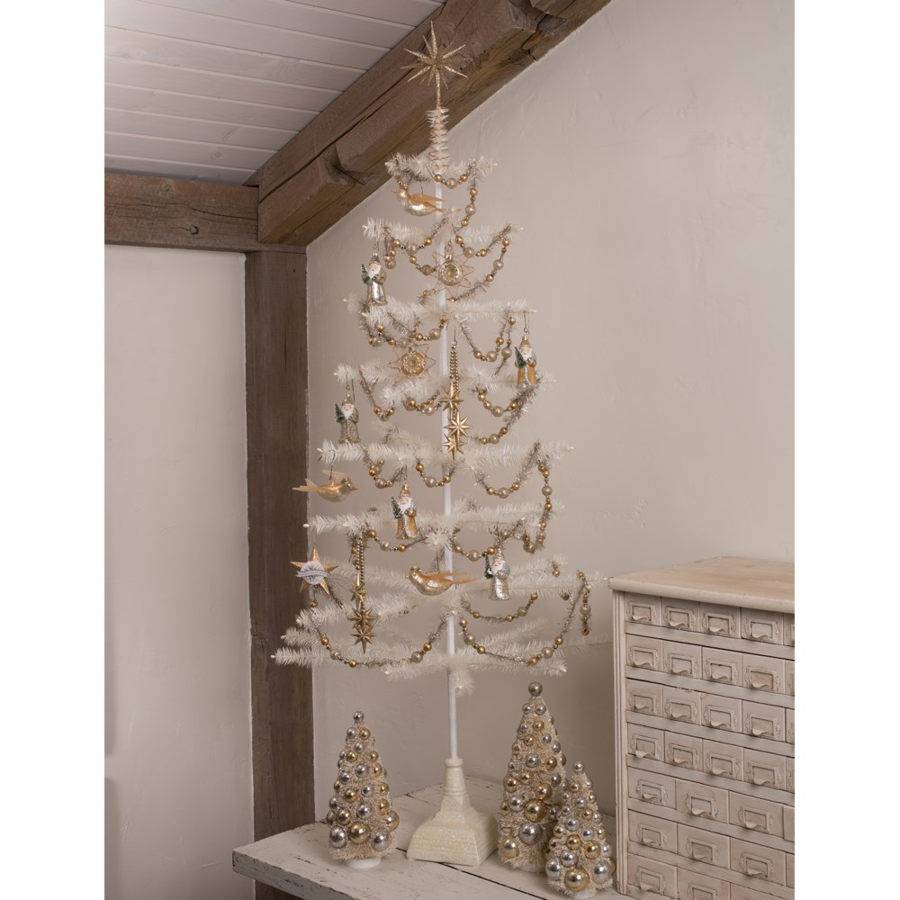 Old Gold Moravian Star Tree Topper
