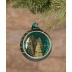 Jewel-Tide Bottle Brush Tree Indent Ornament 3A
