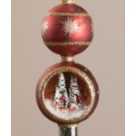 Santa in Sleigh Indent Tree Topper