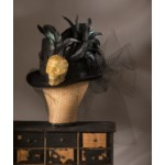 Skull and Lace Haunted Hat