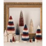 Americana Striped Bottle Brush Trees S3