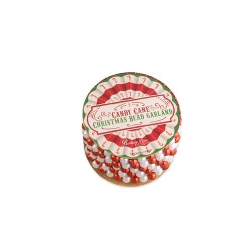 Candy Cane Mini Bead Garland Spool