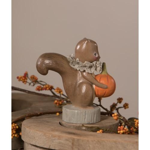 Squirrel Holding Pumpkin