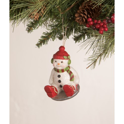 Cheerful Snowman Ornament 3A