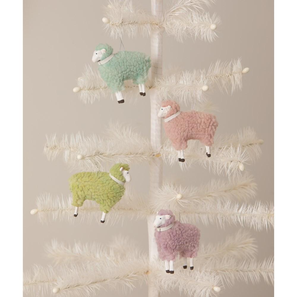 Pastel Pink Sheep Ornament