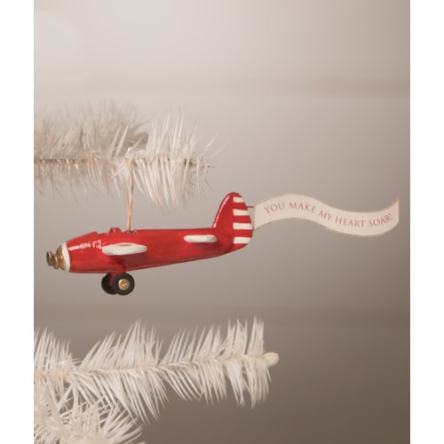 You Make My Heart Soar Airplane Ornament
