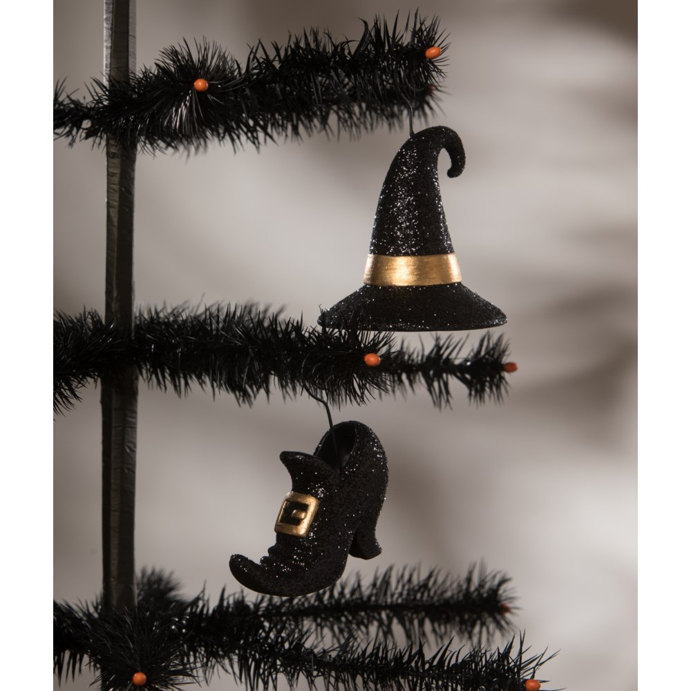 Witch Hat and Shoe Place Card Holder and Ornament 2A