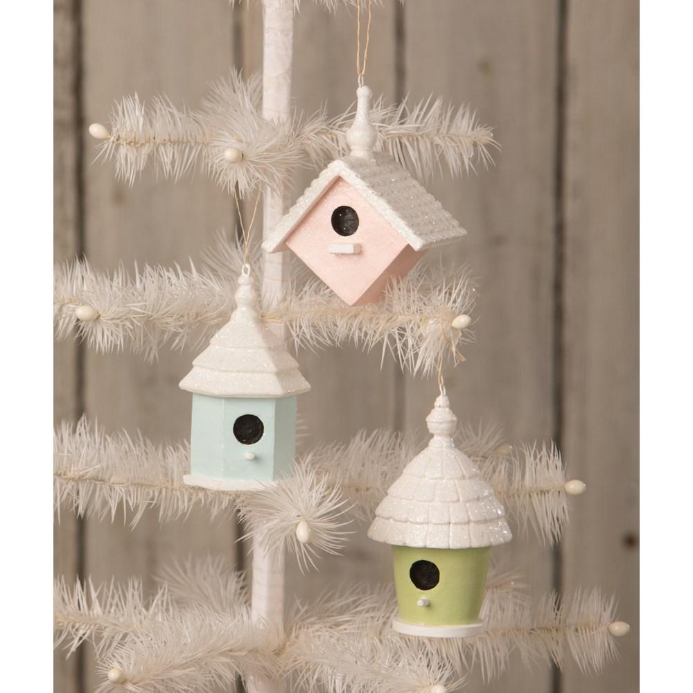 Bird House Ornament Blue