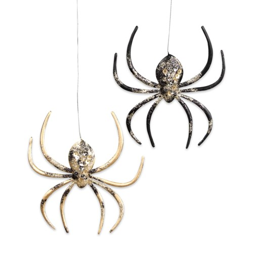Gilded Hallow's Eve Spider Ornament 2A