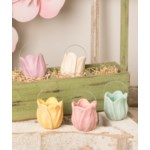 Tulip Bucket Lavender Paper Mache
