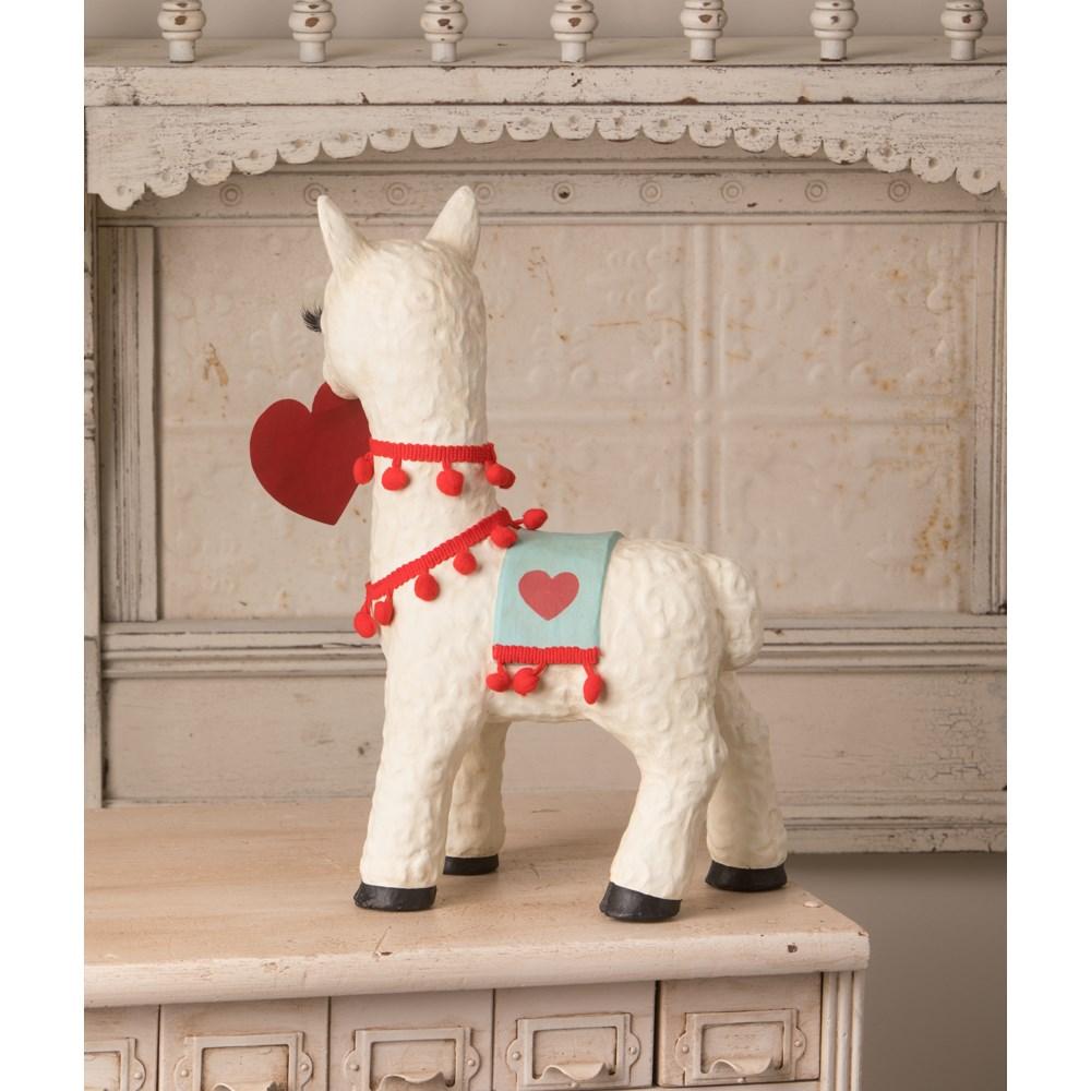 Valentine Llama Paper Mache