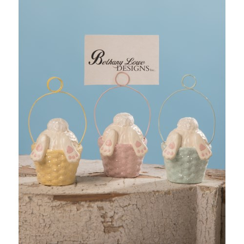 Bunny Tail Ornament & Place Card Holder 3A