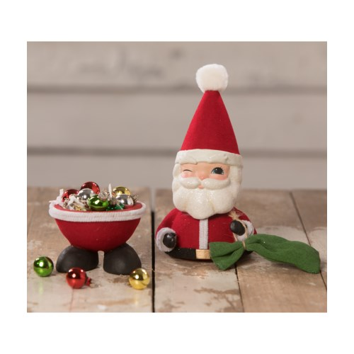 Bobble Head Santa Container