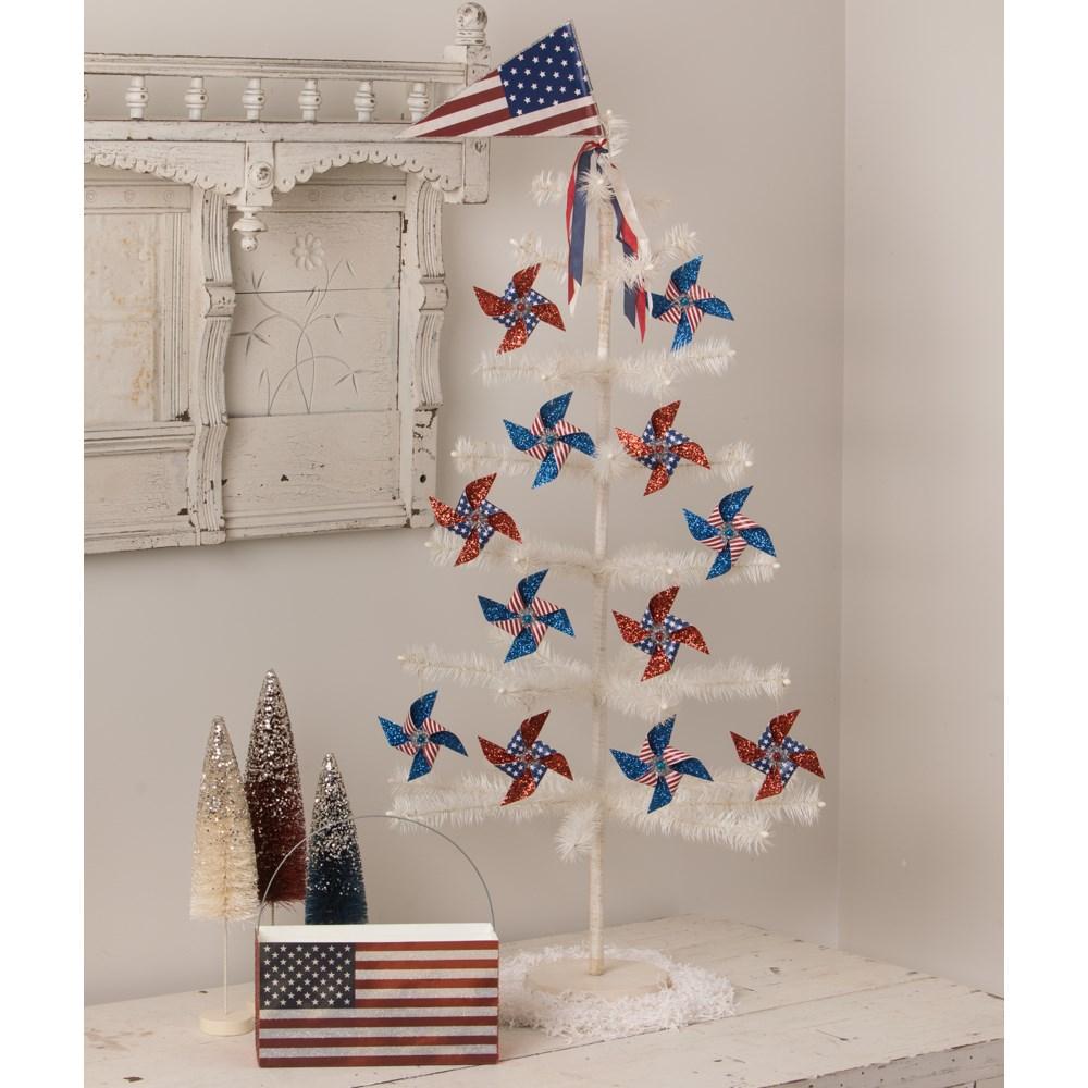 Americana Pinwheel Ornaments S2