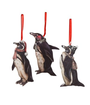Holiday Penguin Dummy Board Ornament 3A