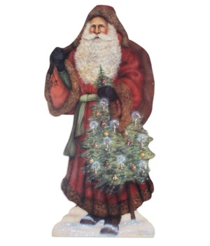 Santa With Decorated Tree Dummy Board