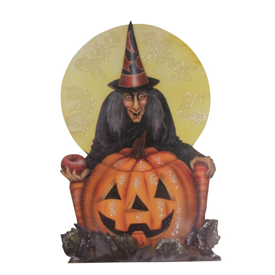 Midnight Witch With Pumpkin Dummy Board