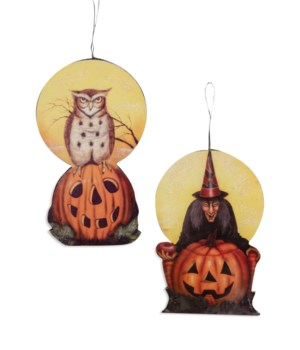 Moonlight Halloween Dummy Board Ornament 2/A