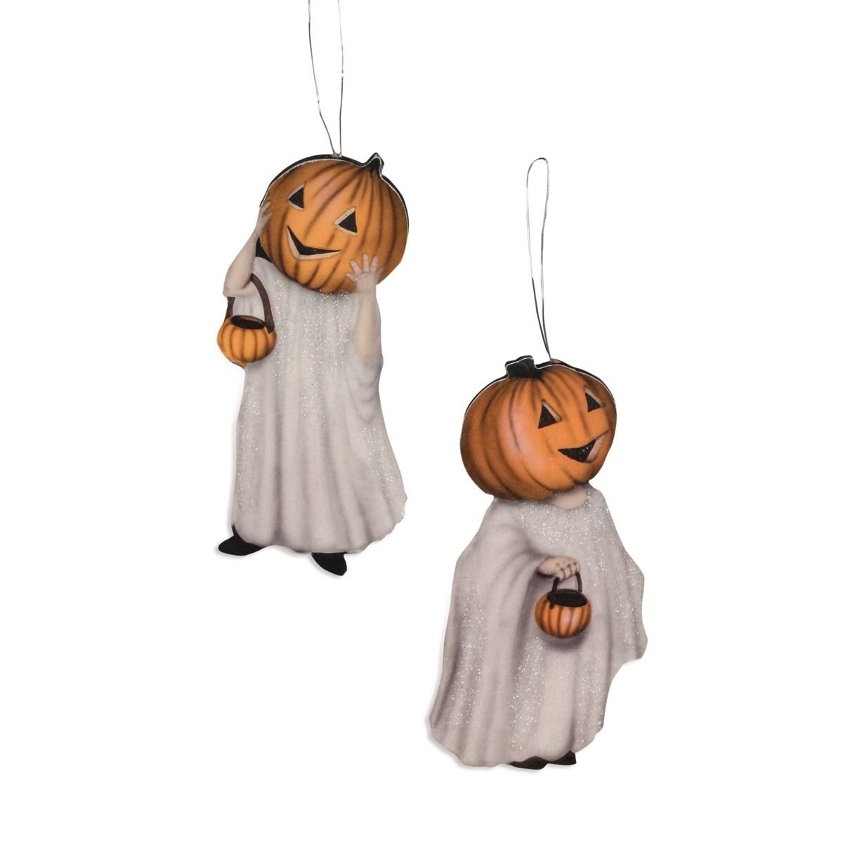 Pumpkinhead Ghost Dummy Board Ornament 2A