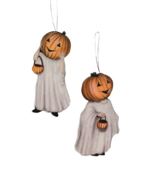 Pumpkinhead Ghost Dummy Board Ornament 2A