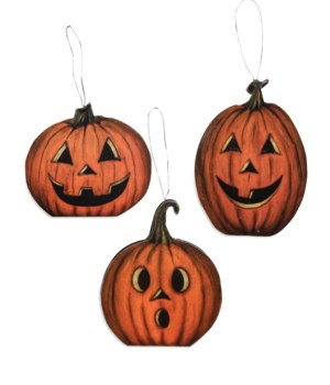Hallow's Eve Pumpkin Dummy Board Ornament 3/A