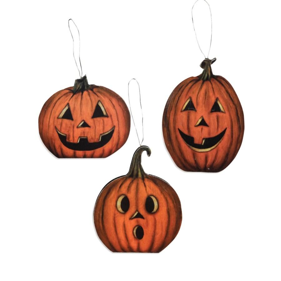 Hallow's Eve Pumpkin Dummy Board Ornament 3/A