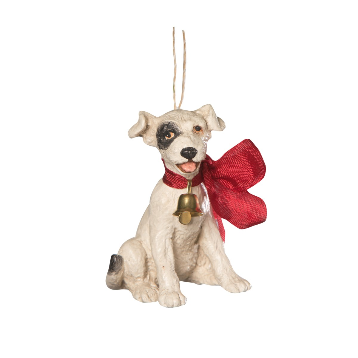 Big Bow Puppy Ornament
