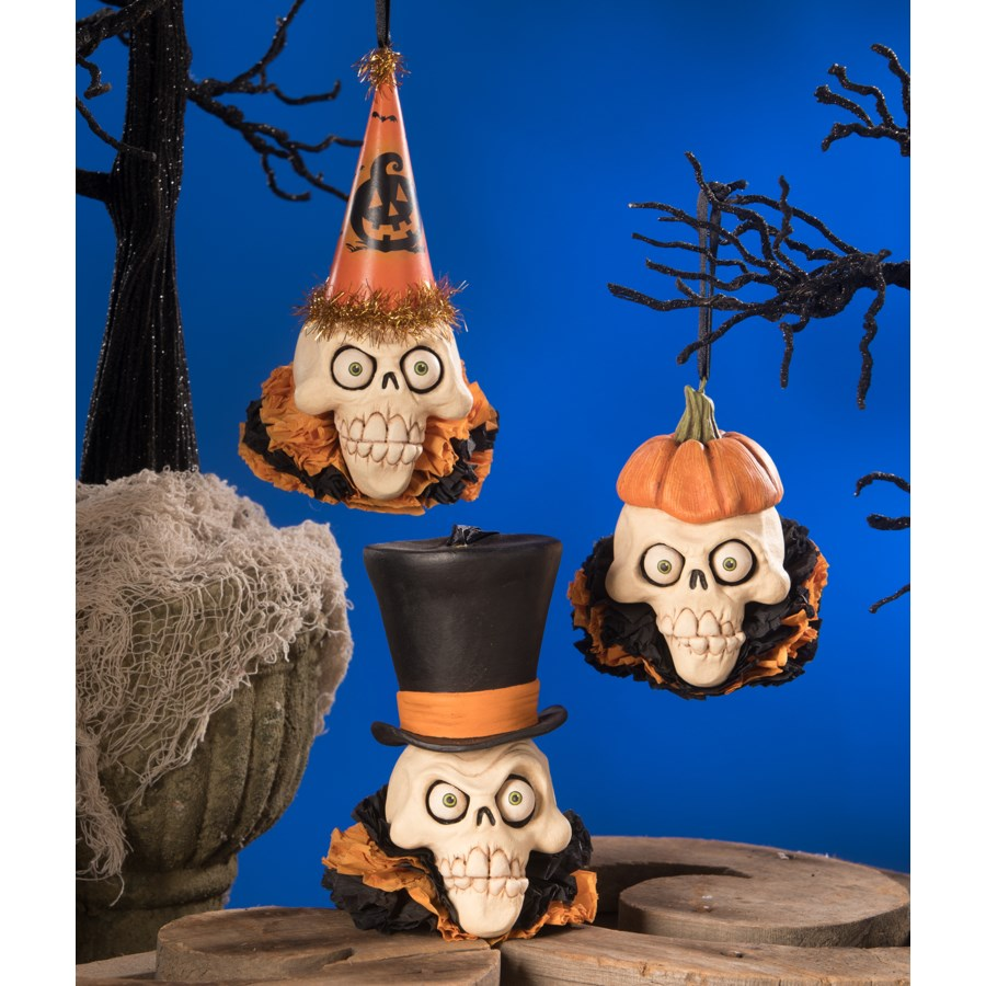 Skelly Head Ornament 3A