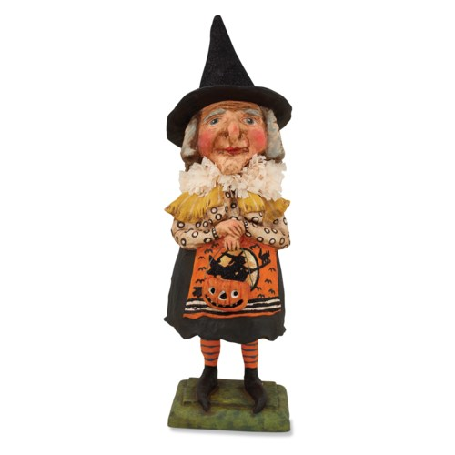 Old Witch With Jack O Lantern