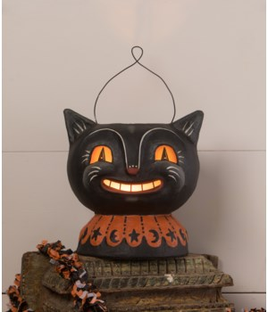 Magic Catty Jack Lantern Paper Mache