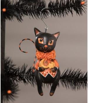 Moon & Stars Cat Ornament