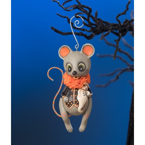 Marvin Mouse With Ghost Ornament