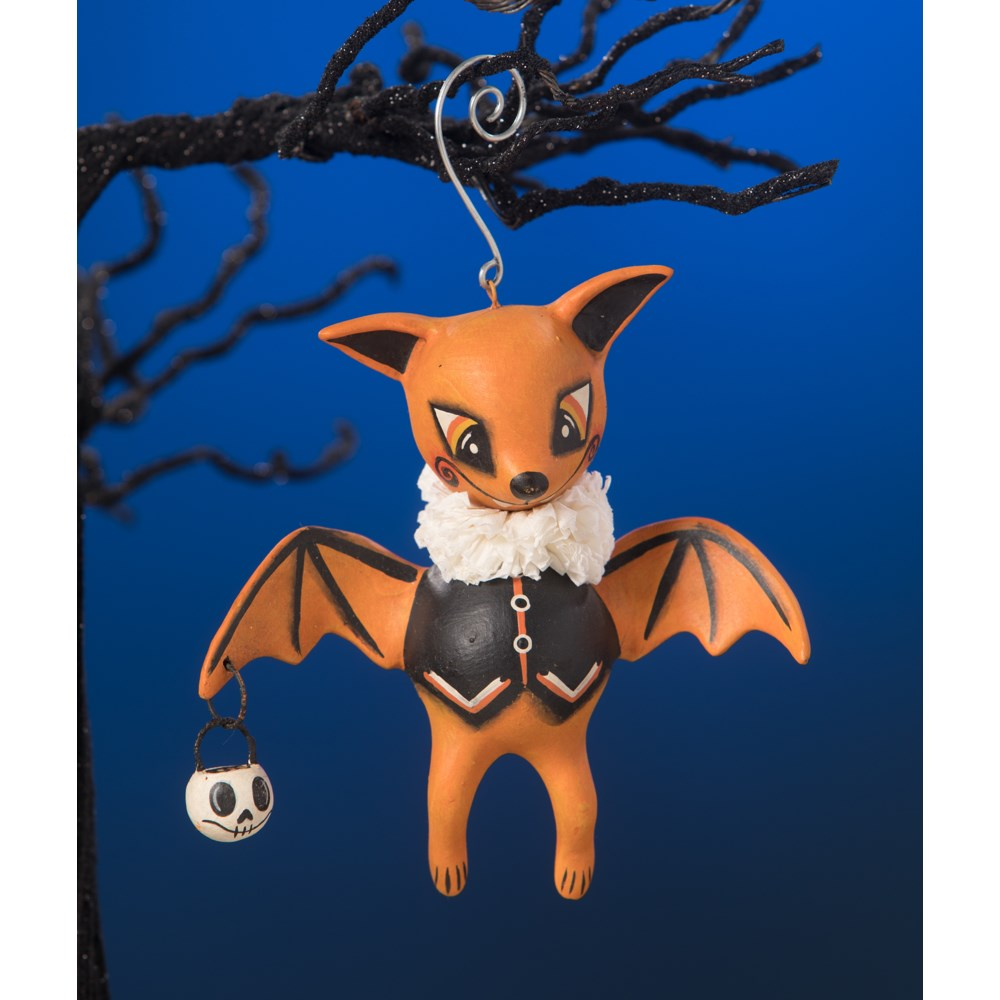 Orange Oliver Bat Ornament