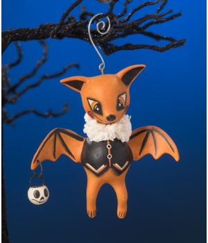 Orange Oliver Bat Ornament